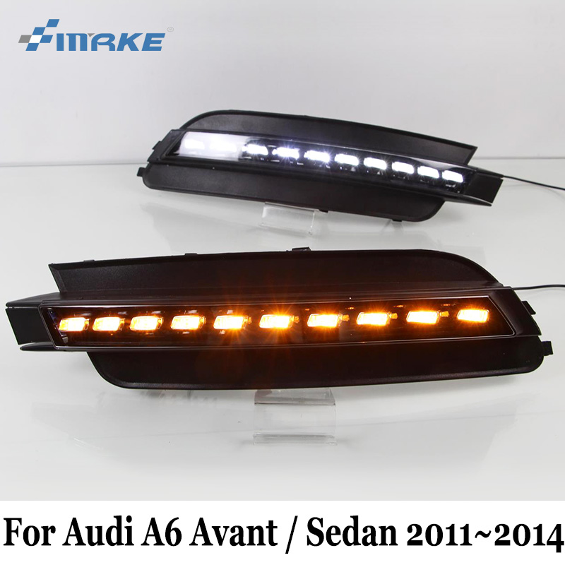 SMRKE DRL For Audi A6 Avant Sedan (4G,C7) 2011~2014 / 2 Colour Car LED Daytime Running Lights & 12V Cornering Lamp / Car Styling