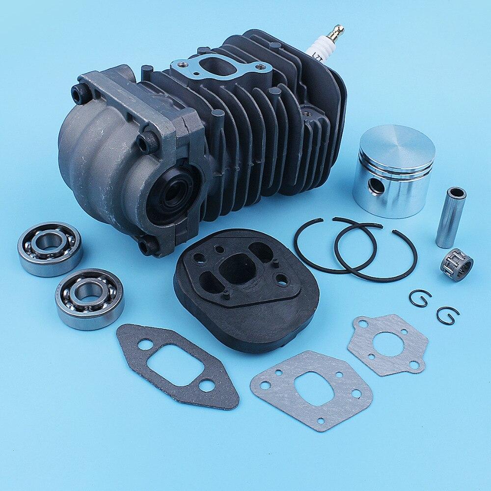 Nikasil Cylinder Piston Crank Bearing Seal Gasket Kit For Poulan PP220 PP221 PP260 1950 2150 2250 2450 2550 SM4018 Chainsaw 41mm
