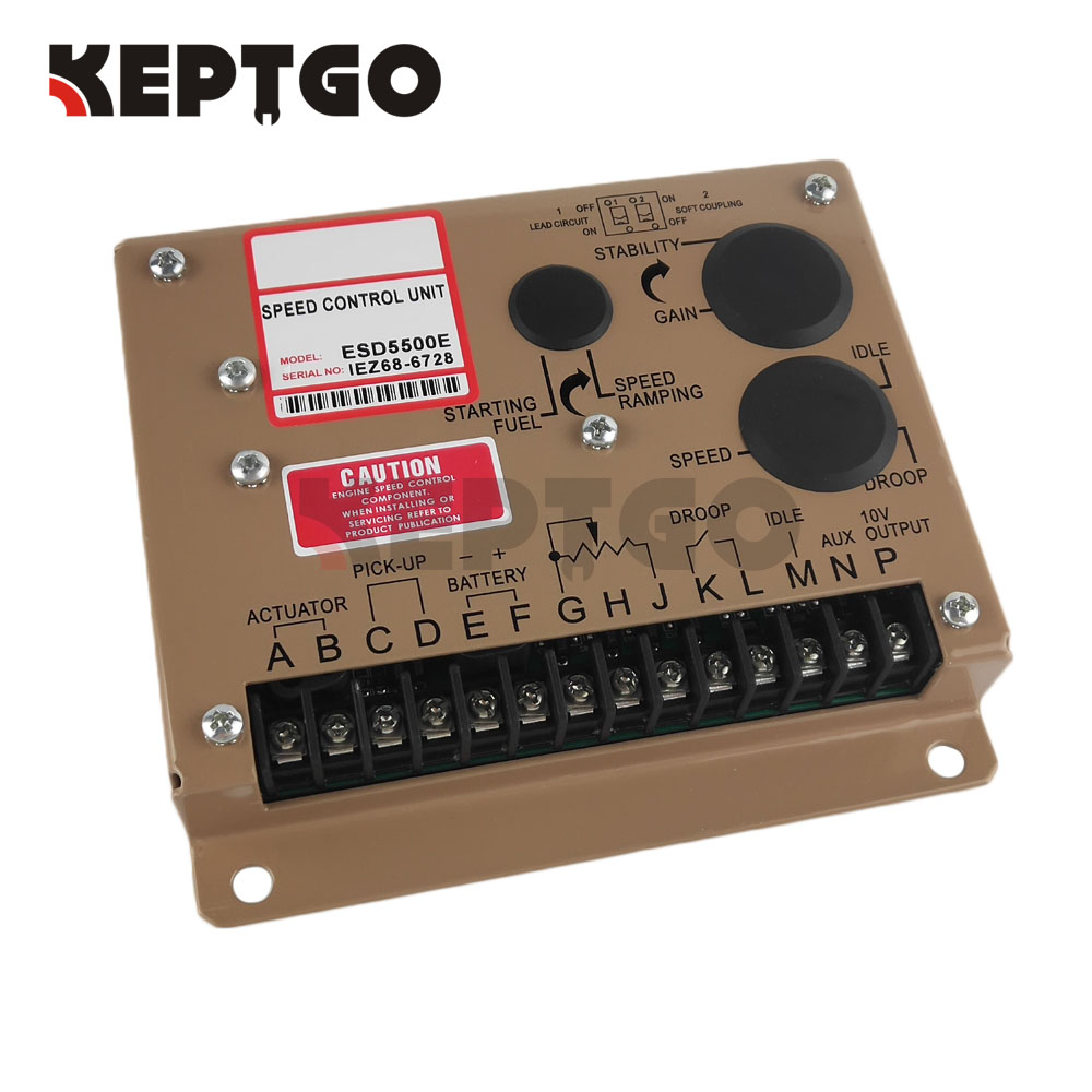 New Electronic Engine Speed Controller Governor ESD5500E Generator Genset Parts brand new aftermarket engine speed controller efc3044196 fits 12 24v generator