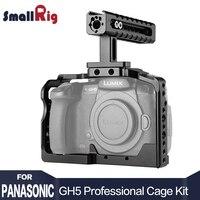 SmallRig Камера GH5 двойной Алюминий Cage kit для Panasonic Lumix GH5/GH5S облегающие клетка с верхней ручкой 2050