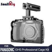 Smallrig двойной Алюминий Клетки для камеры комплект для Panasonic Lumix gh5/gh5s облегающие клетка с Топ Ручка 2050