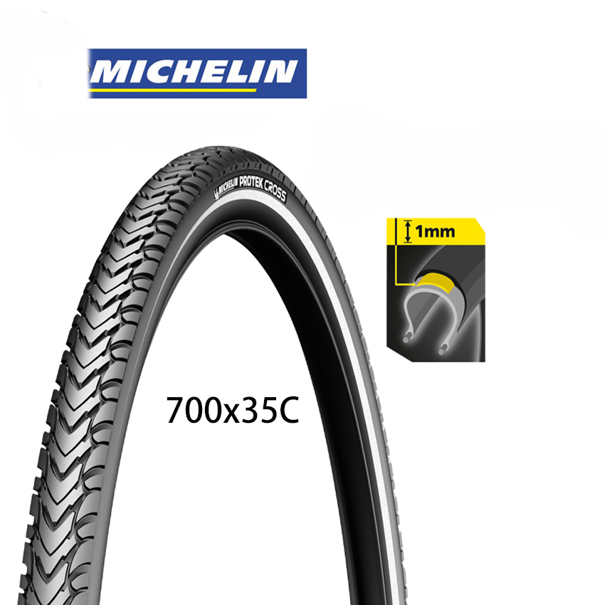 Michelin New protek cross Road Bicycle Tire Reflective double-sided Bike tyre 700x35C pneu bicicleta maxxi interieur michelin pro4 service course bicycle tire