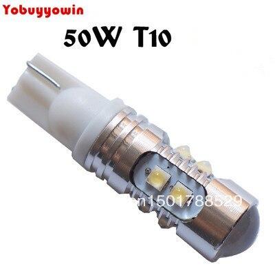 Free shipping 2pcs/lot 168 bulb cree chips t10 50W 194 W5W T15 H1 H3 880 881 50W LED Reverse Light, W5W led Back Lamp, T10