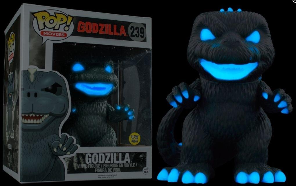 Exclusive 6'' Funko pop Glow in the dark Official Godzilla Atomic Breath Godzilla Collectible Vinyl Figure Model Toy