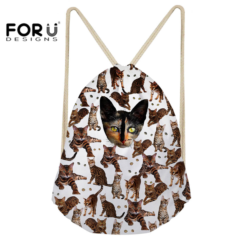 5c92582e9e FORUDESIGNS Small Drawstring Bag Pouch Animal Printed Gym Bag Sport Backpack  Bag Gymsack for Boys Girls Running Cycling Outdoor-in Gym Bags from Sports  ...