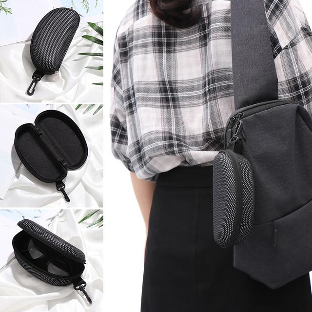 New Zipper Eye Glasses Sunglasses Hard Case Cover Bag Storage Box Portable Protector Black High Quality 8