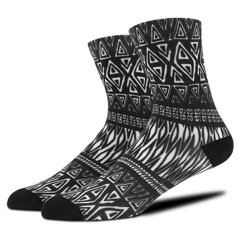 3 Pair Quality 3D Print Socks Mens Fashion Business Thin Crew Tube Socks Male Summer Sokken Sox Hiphop Street Skate Socks BOC147