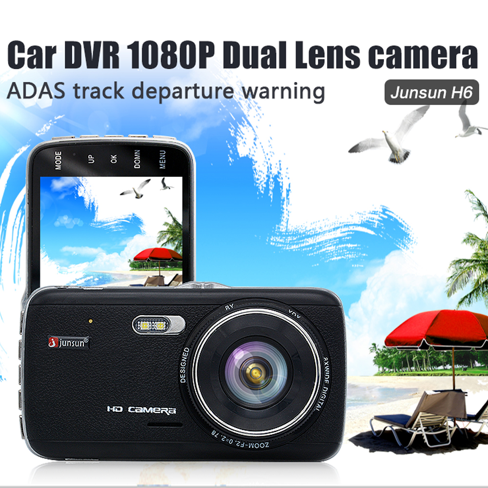 "Junsun Car DVR Camera 4.0"" Full HD 1080P Video Recorder Registrator G-Sensor Night Vision Car Camcorder DVRs Dash Cam"