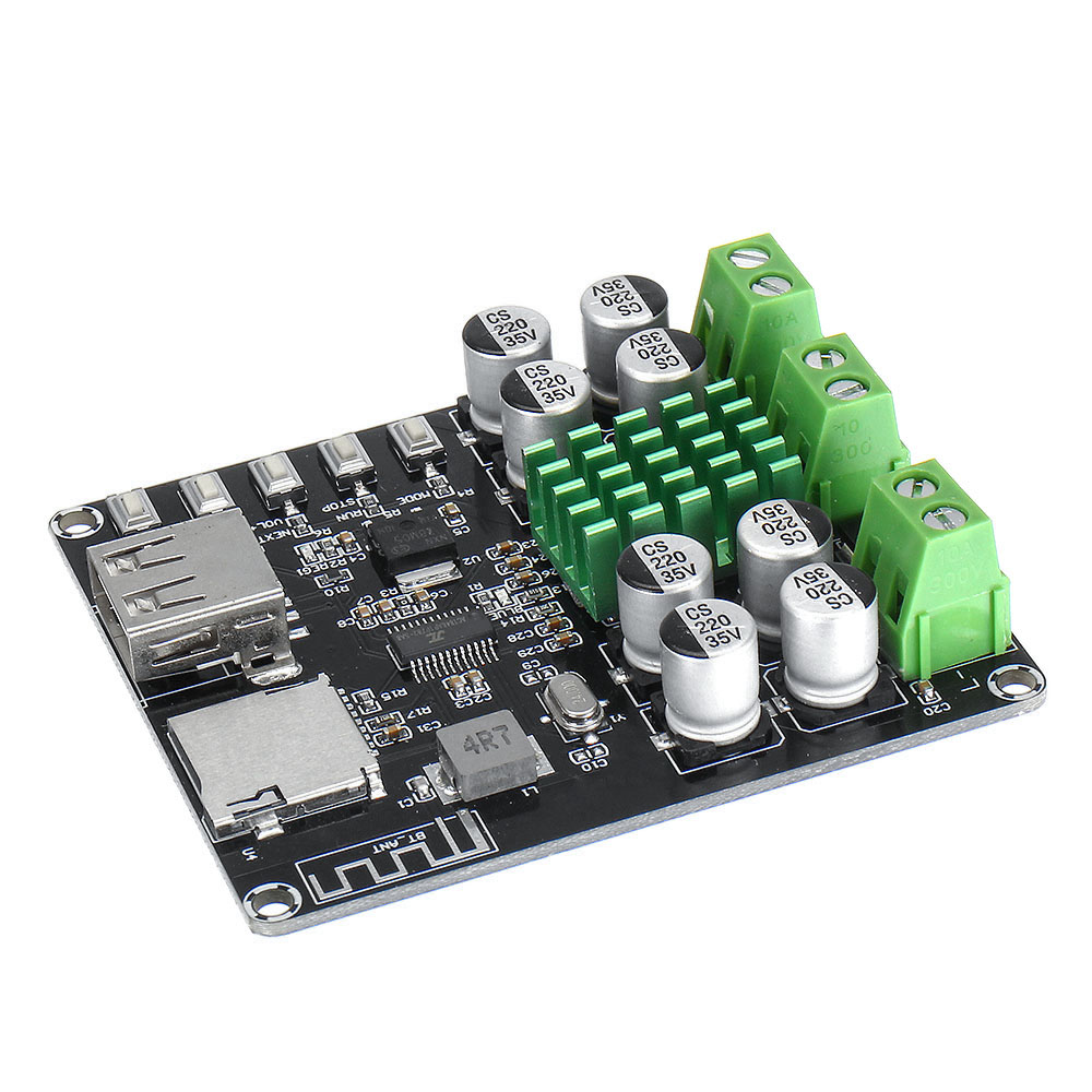 LEORY VHM-302 TPA3116D2 Digital bluetooth Amplifier Board DC12V-24V Integrated U Disk TF Player Amp Boards