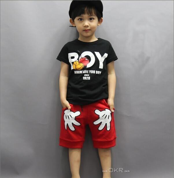 74df8dc85 Aliexpress.com: Comprar Niños Mickey manos conjuntos de ropa bebé verano  estilo camisetas + Pantalones cortos niños Minnie ropa deportiva trajes de  fantasía ...