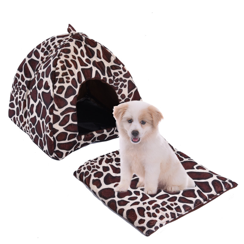 Puppy Cat Warm House Foldable Anti-slip Fleece Pet Nest 2 Size 1pcs Newest 2017