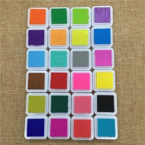 Image 2 - 24 Colors Cute Inkpad Cartoon Stamp Craft Oil Based DIY Ink Pads for Rubber Stamps Scrapbook Decor Fingerprint Kids Toy