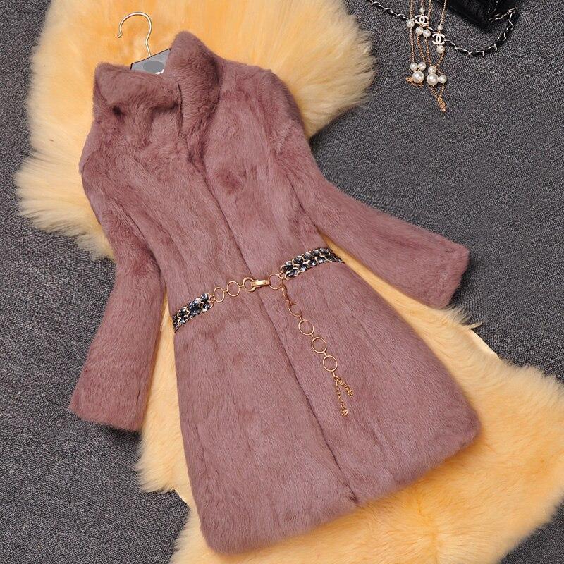 Collier Réel Longue Chaud black Manteau 2018 Pardessus Peau Naturelle Survêtement Mode purple Veste De Conception Stand La bean Toute Beige Fourrure D'hiver Lapin Femmes plum 0vNnm8w