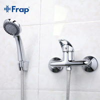 1 Set Simple Style Shower Faucet Bathroom Tap Cold And Hot Water Mixer Single Handle Torneira