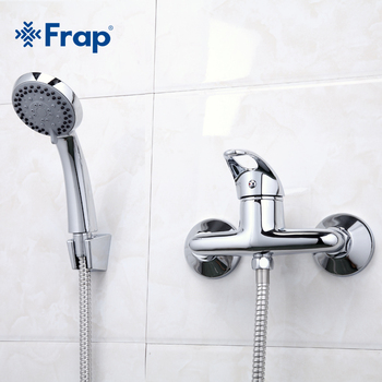 Frap 1 Set Simple Style Shower Faucet Bathroom Tap Cold and Hot Water Mixer Single Handle Torneira F2003 - discount item  46% OFF Bathroom Fixture