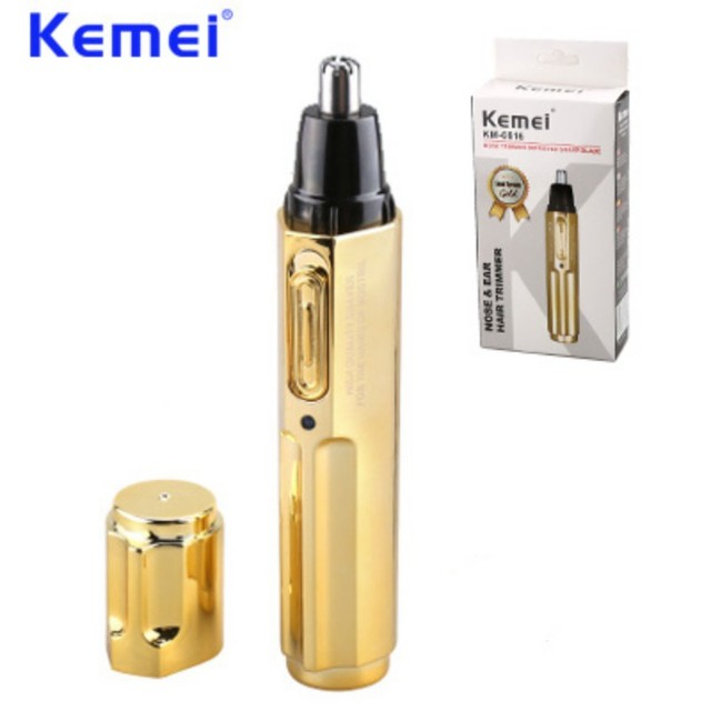 KEMEI New Electric Nose Hair Trimmer Professional Rechargeable Stainless Steel Nose Hair Cut Machine cortapelos nariz BT-162