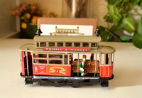 Clockwork classic retro tin toys Rare vintage tram Los Angeles Collection