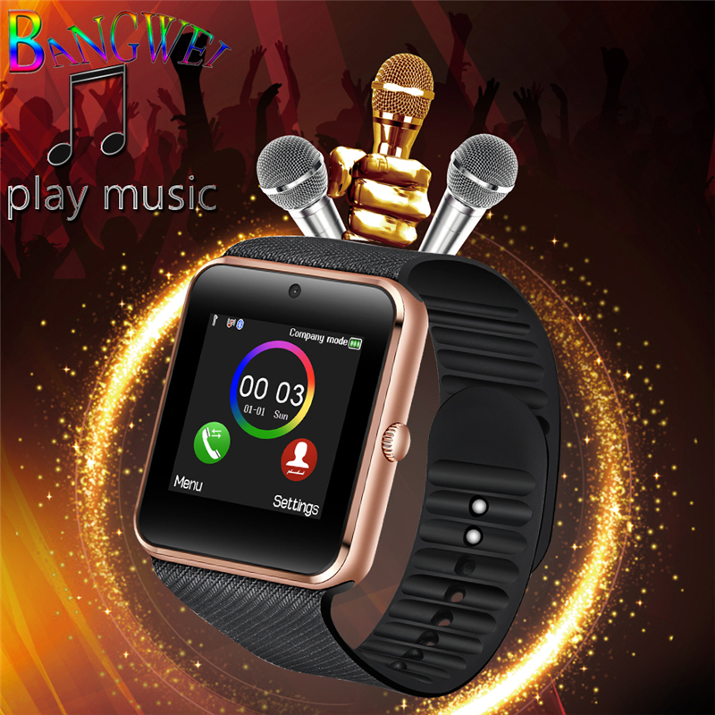 BANGWEI Brand Smart Watches Mens Fitness Sport Smart watch Support SIM TF Card Bluetooth information reminder electronic clock bangwei men women smart watch information vibration reminder sedentary reminder music player fashion fitness smart digital watch