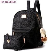 Flying birds! 2016 frauen rucksack mode frauen leder Rucksäcke damen mädchen schultaschen umhängetaschen weiblichen beutel LS8359fb