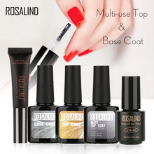 ROSALIND Base Top Matt Top Coat Gel Nail Polish Long Lasting Gel Varnish Nail Manicure UV LED Nail  Extension Design Manicure