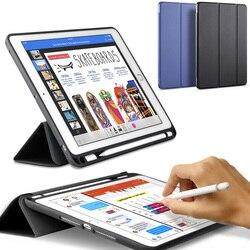 Чехол с карандаш держатель для APPle iPad Pro 12,9 дюймов (новинка 2017 года) A1670 A1671, ZVRUA из искусственной кожи Smart Cover сна авто