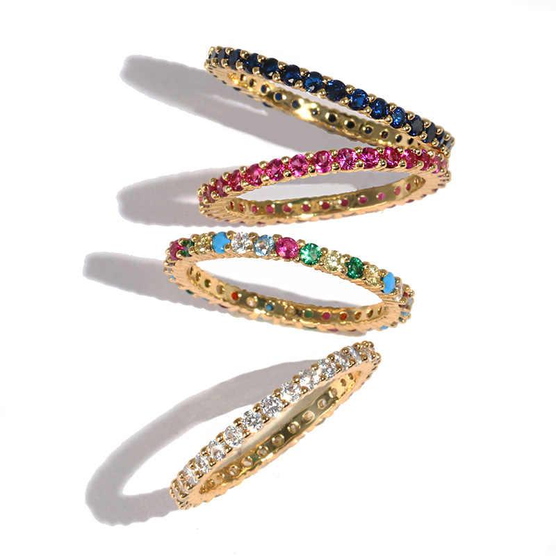 คุณภาพสูงคลาสสิกสีผสม Cubic Zircon งานแต่งงานแหวนผู้ชาย Silver GOLD สีคริสตัล CZ แหวน 2019