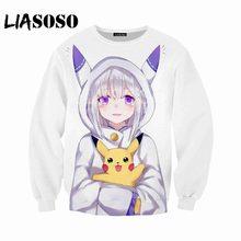 9526f894 LIASOSO New Men and Women Sweatshirt Anime Re Zero Sweatshirt 3D Print  Sweatshirt Fashion Long Sleeve