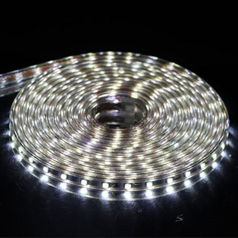 SMD 5050 AC 220V LED Strip Outdoor Waterproof 220V 5050 220 V LED Strip 220V SMD 5050 LED Strip Light 1M 2M 5M 10M 20M 25M 220V 2