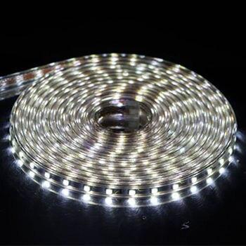 SMD 5050 AC 220V Tira LED Impermeável ao ar livre 220V 5050 220 V Tira LED 220V SMD 5050 Tira LED Luz 1M 2M 5M 10M 20M 25M 220V 1