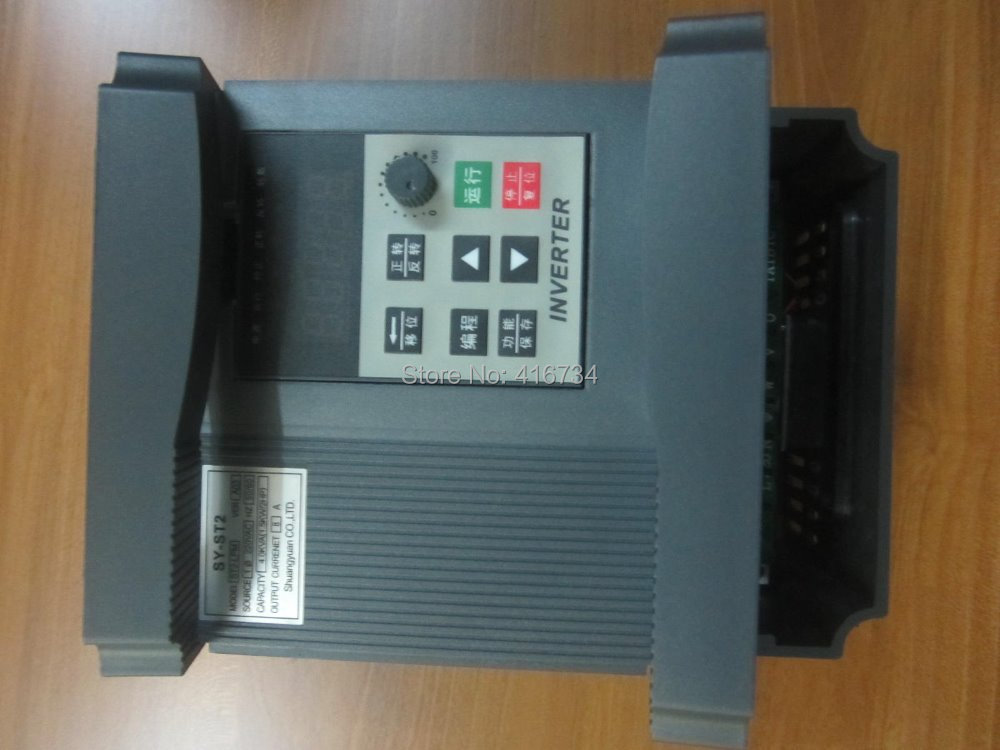 VFD ST2 Single phase 220V in three phase out 8A 1.55KW three phase moto speed controller frequency converter three phase general frequency converter 2 2kw 380v three phase motor warranty 18 delta