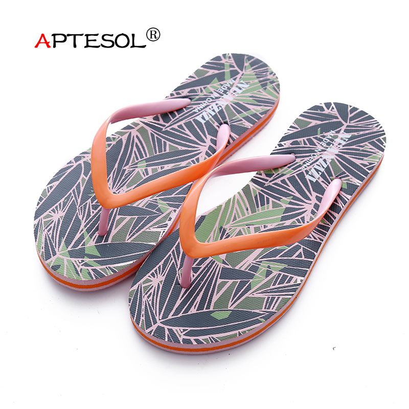 APTESOL Women's Summer Fashion Casual Slippers Unisex Lightweight Daily Flip Flops Rubber Soft Couples Outdoor Beach Lazy Shoes