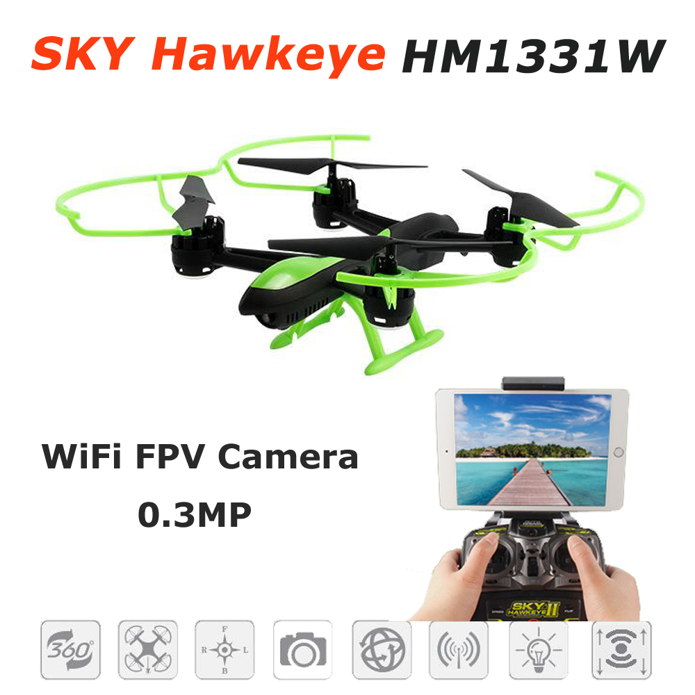 Sky Hawkeye 1331W WiFi FPV Real-time Positioned Height 4CH 6 Axis Gyro RC Multicopter with One Key Return RC Quadcopter RTF jxd 510g 2 4g 4ch 6 axis gyro 5 8g fpv rc quadcopter rtf rc drone with 2mp camera with one key return cf mode 3d flip f18540