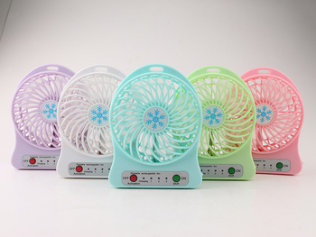 Mini Fan Portable Rechargeable USB Desk Fan 3 Speed Electric Air Conditioner Cool With LED For Home Office Outdoor Best Gift Replacement Parts & Accessories