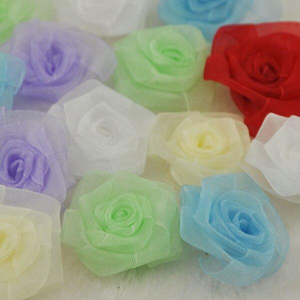 FäHig Upick 15 Stücke Organza Blumen Rose Applikationen Handwerk Hochzeit Nähen Dekorationen B70 Haus & Garten