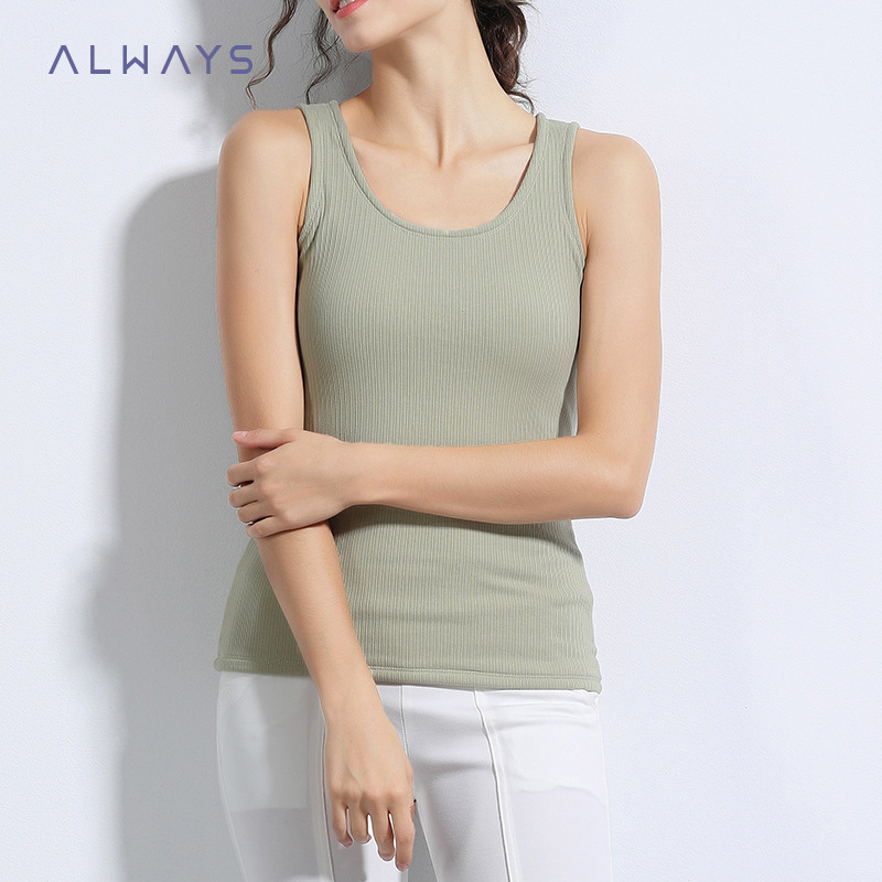 Detail Feedback Questions about 2018 Autumn Winter High Quality Cashmere  Tank Tops Women Elasticity Soft Warm Thick Thermal Underwear Tops O neck  Camisoles ... 9df654a31