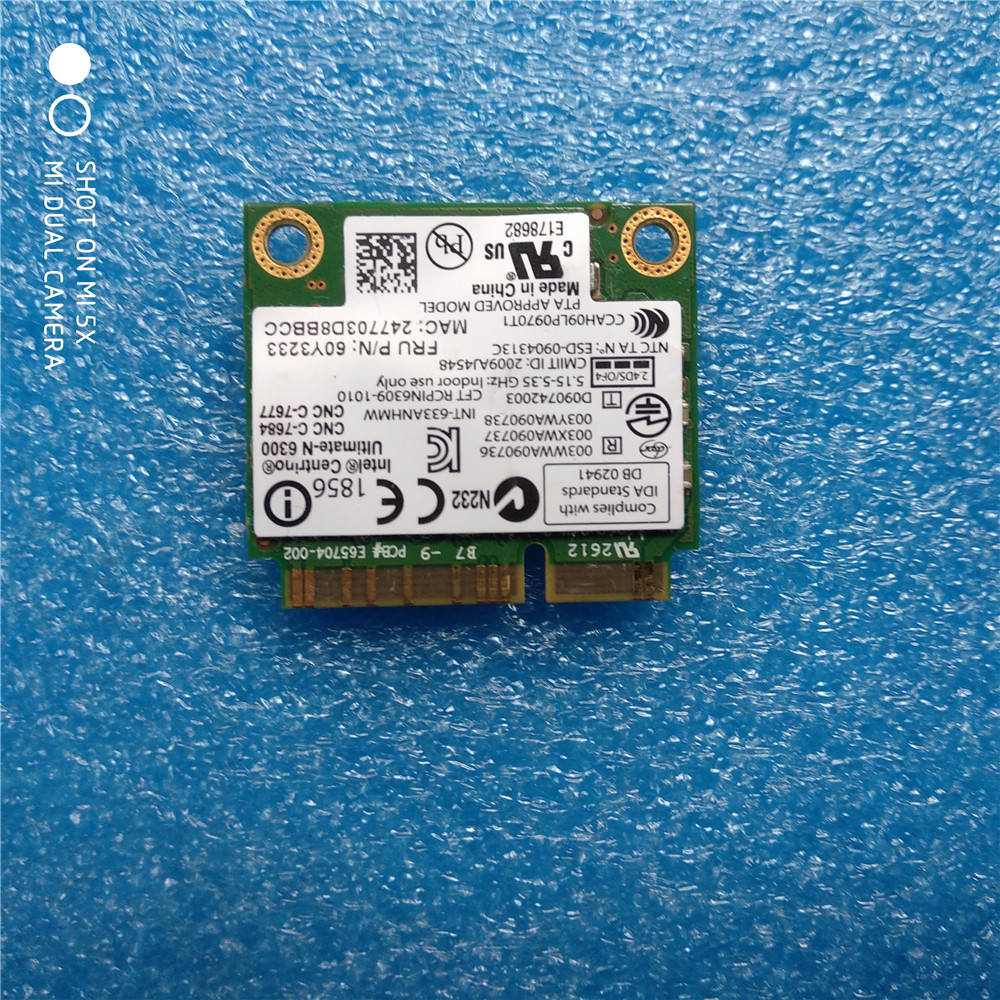 For Intel 6300 633ANHMW 6300AN Centrino Ultimate N 6300 FRU
