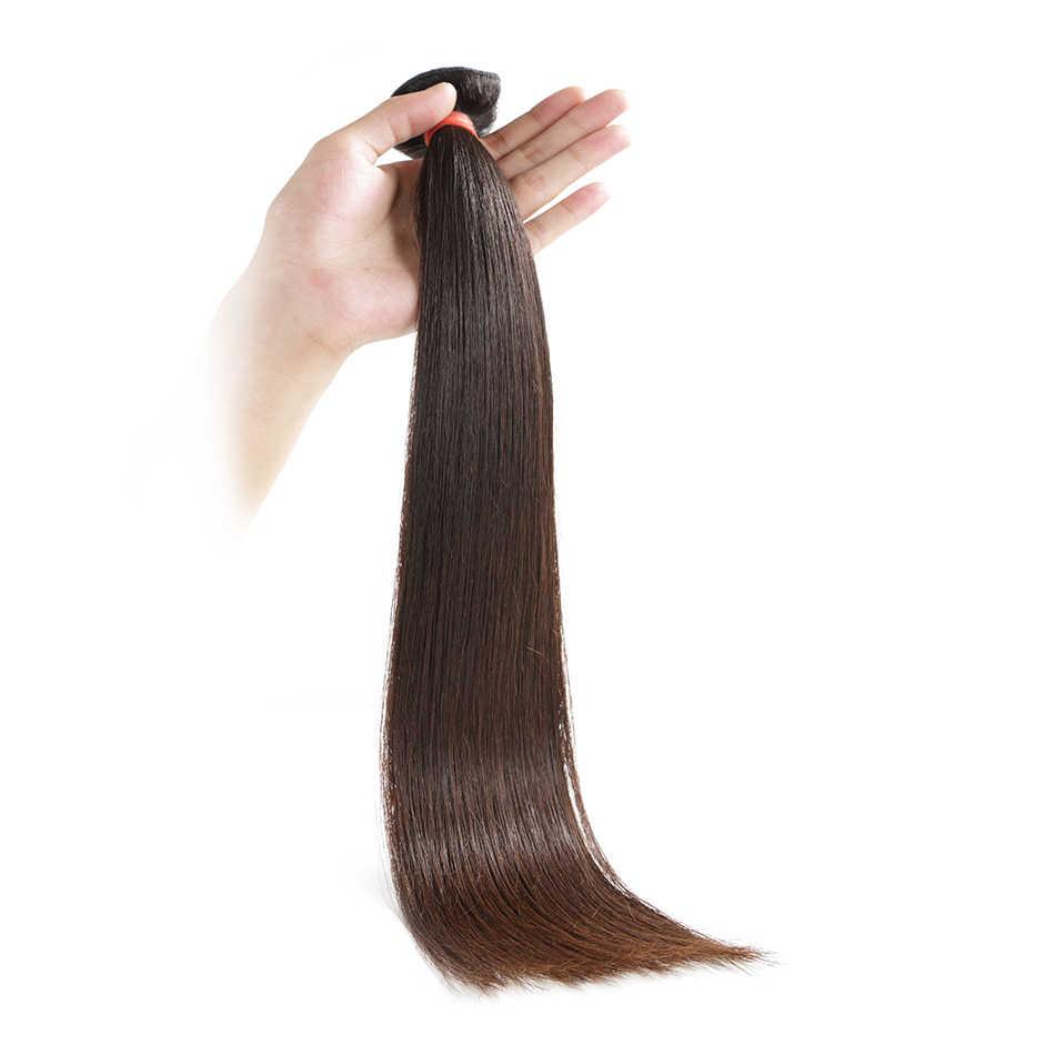 Ilaria Haar Nertsen 8A Braziliaanse Virgin Hair Straight 4 Bundels 34 36 Inches Onverwerkte Human Hair Weave Volledige Bundel Gratis verzending