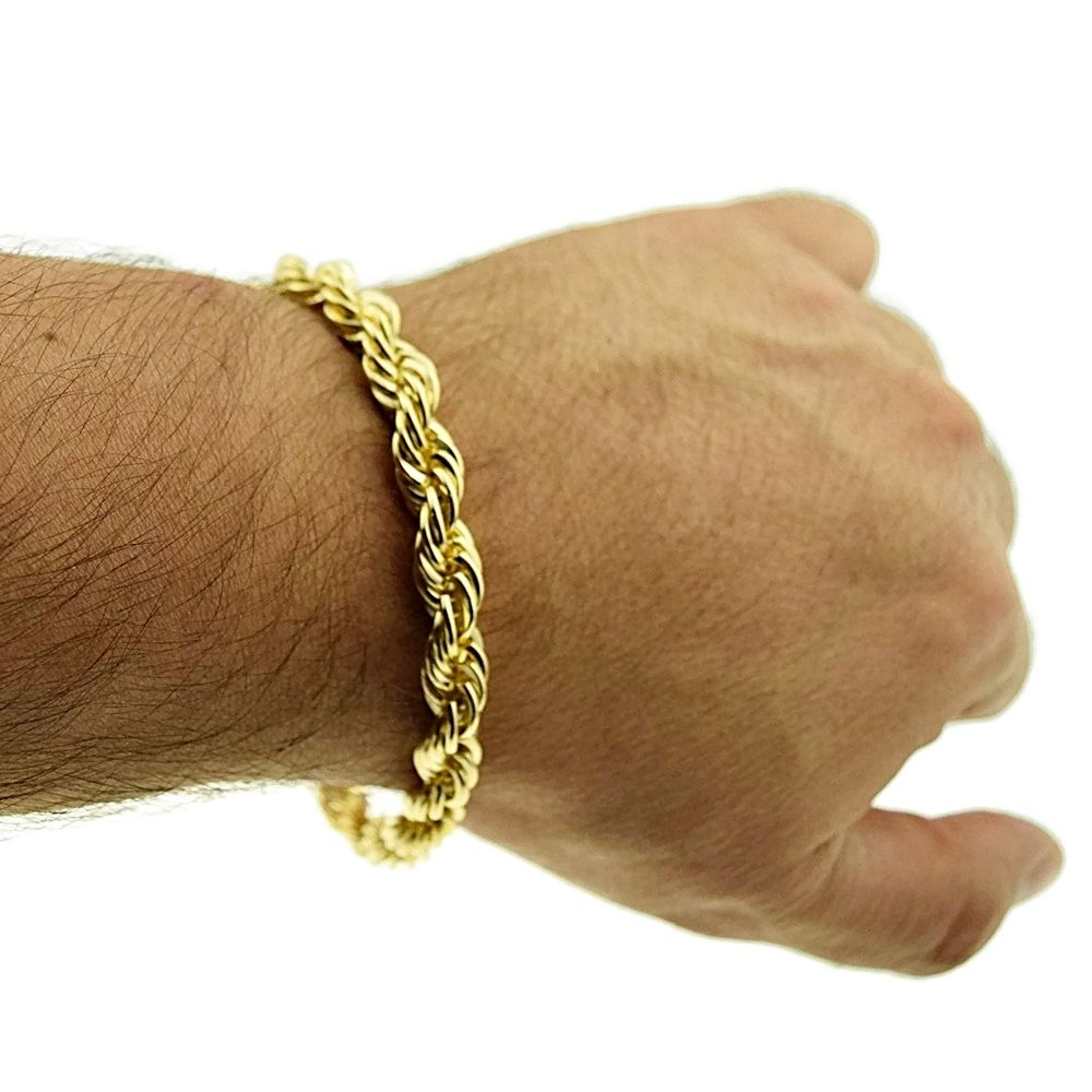 Rope-Bracelet-14k-Gold-Plated-9-Inch-x