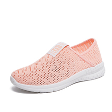 2019 New Air Mesh Tennis Shoes Women Outdoor Sport Shoes Female Soft Lightweight Breathable Tennis Students Flats Non-Slip Shoes timeswood flat women shoe comfortable air mesh non slip female shoes breathable bowknot lightweight casual handmade size 35 40