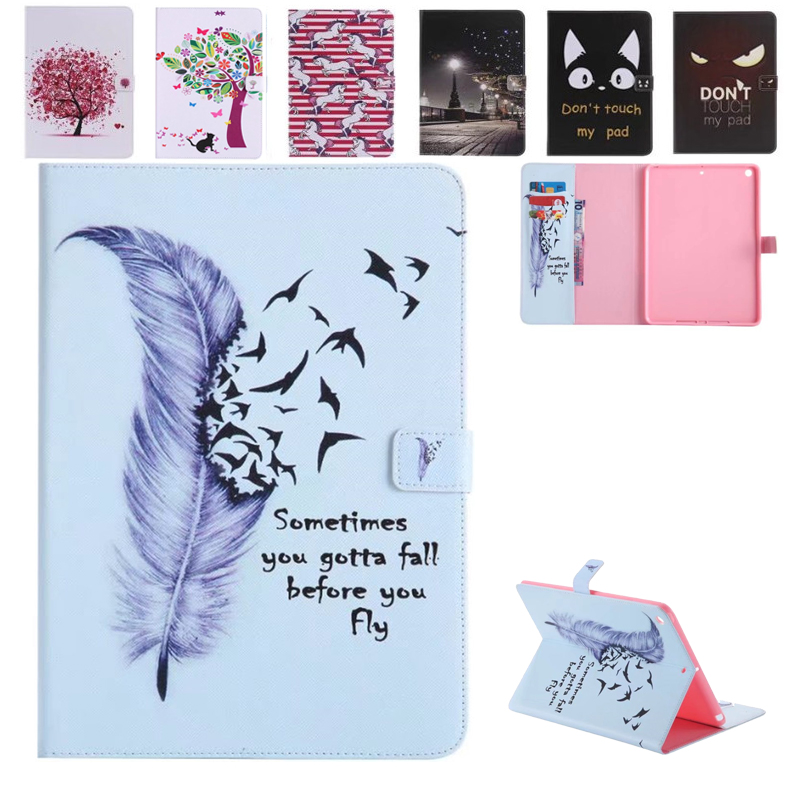 10 Patterns PU Leather Flip Case For iPad 9.7inch 2017 Case Stand Tower Pen Card Holder Tablet Case For new Apple iPad 2017 9.7 case cover for goclever quantum 1010 lite 10 1 inch universal pu leather for new ipad 9 7 2017 cases center film pen kf492a