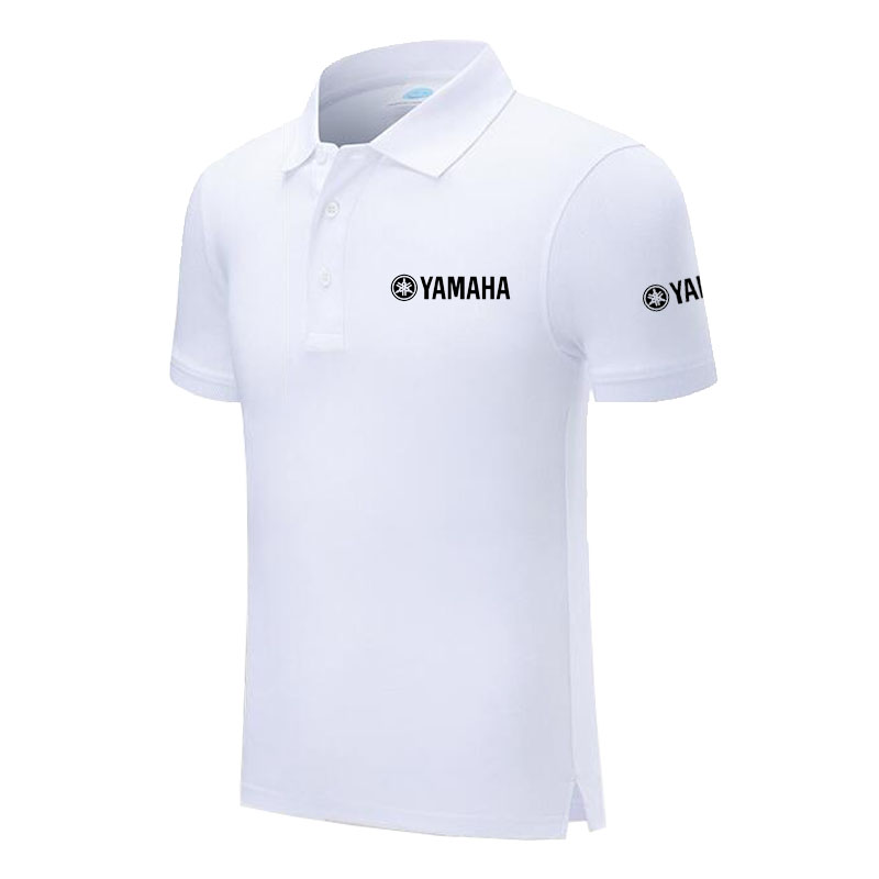 Polo   Shirt Yamaha logo Casual Solid shirt Short Sleeve Cotton printed   Polos