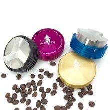 Freies verschiffen neue vier farben smart edelstahl kaffee tamper professionelle kaffeemaschine grinder werkzeug Hersteller 58mm 57,5mm