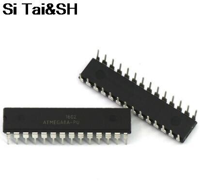5PCS ATMEGA8A-PU DIP ATMEL ATMEGA8A ATMEGA8-PU DIP28 Programmable Flash