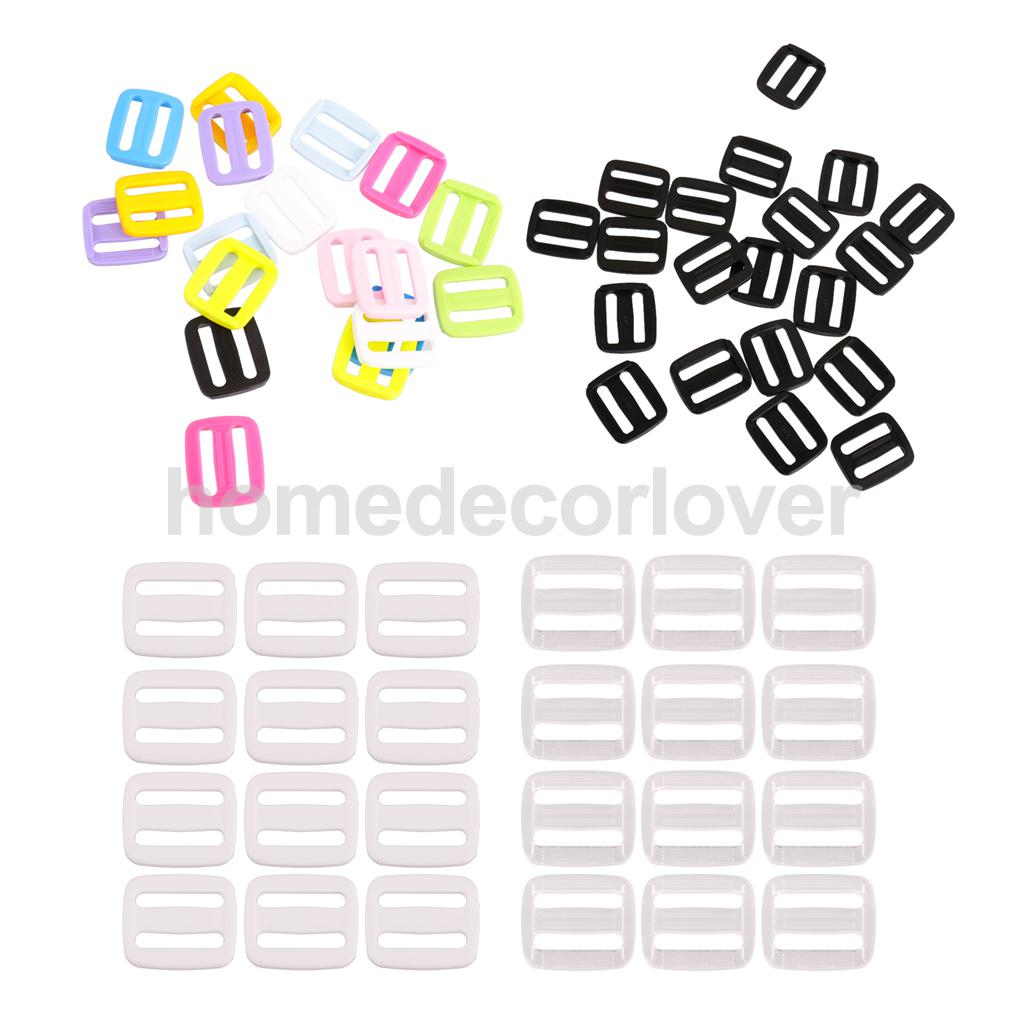 Sincere 20pcs Plastic Slider Tri Glide Adjust Buckles For Dog Collar Harness Backpack Straps Webbing 20mm Yet Not Vulgar Home & Garden Buckles & Hooks