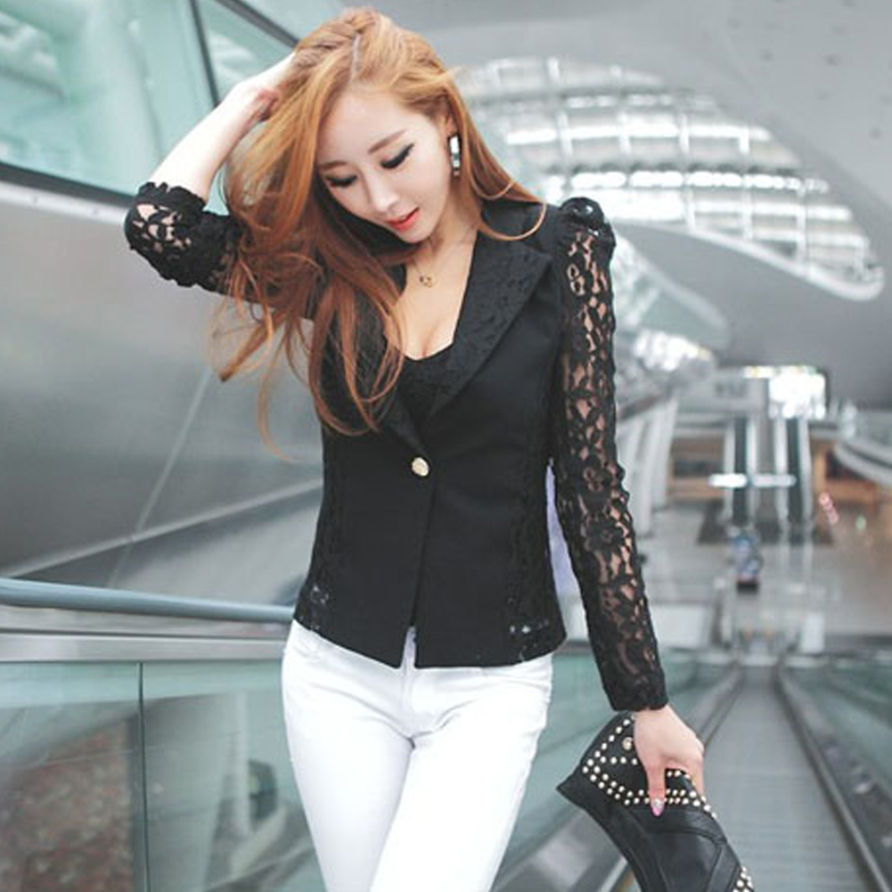 Veste en dentelle grande taille noir ou blanche.7