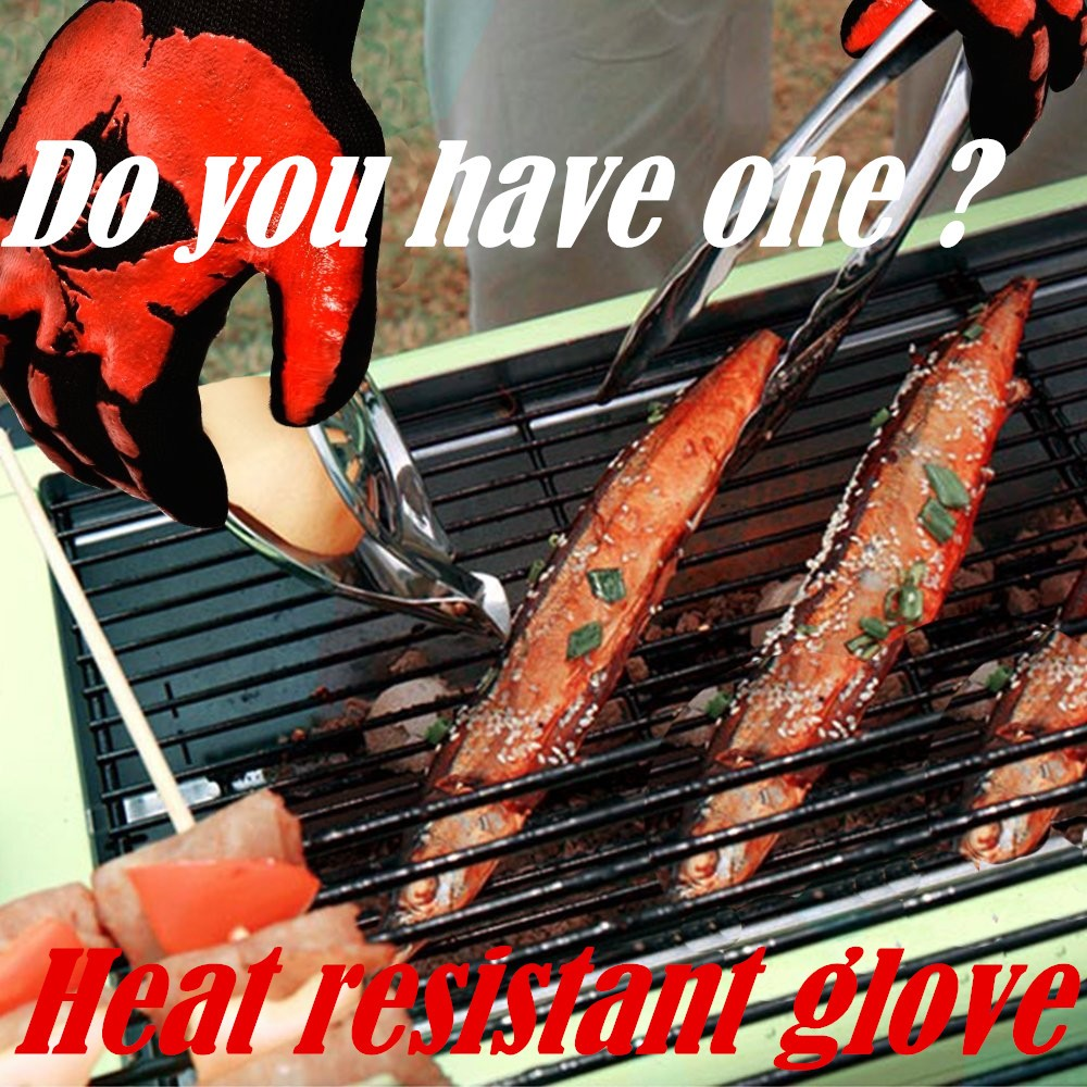 Protective Cooking Tools BBQ Microwave Oven Gloves Heat Proof Resistant Kitchen and Outdoor Grill Gloves EN407