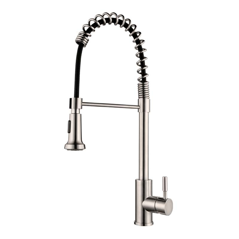 Stainless Steel Pull Out Kitchen Faucet Spring Pull Down Kitchen ...