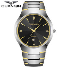 GUANQIN GQ30018 calendar Luxury Brand Men's Watch Tungsten Steel Quartz Watches Fashion Silver Rose Gold Watches