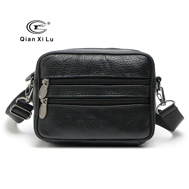 2018 New Men Genuine Leather Handbags Cow Leather Small Shoulder Bags High Quality Male Business Messenger Bags Crossbody Bags