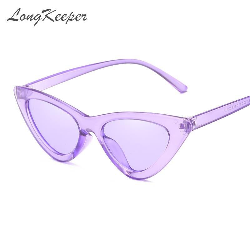 Longkeeper Fashion Cheap Cat Eye Sunglasses Women 2019 Purple Mirror Sun Glasses For Female Retro Vintage Oculos De Sol Feminino Women S Sunglasses Aliexpress